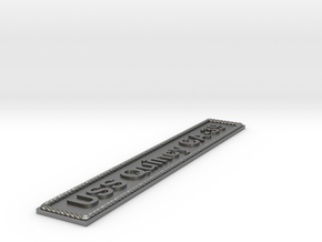 Nameplate USS Quincy CA-39 in Natural Silver