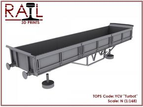 """YCV """"Turbot"""" Ballast Wagon N Scale (1:148) in Frosted Ultra Detail"""