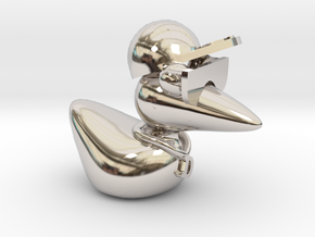 The Cool Duck in Rhodium Plated Brass