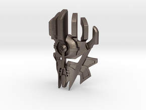 [G1] Mask of Creation in Polished Bronzed Silver Steel