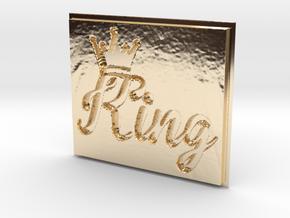 King Pendant in 14K Gold