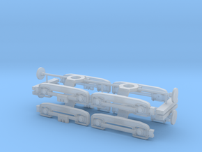 4x-F/D-Bogie-2mm adjustment Ho Scale in Frosted Ultra Detail