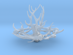 1:12 Antler Chandelier 1 in Smooth Fine Detail Plastic