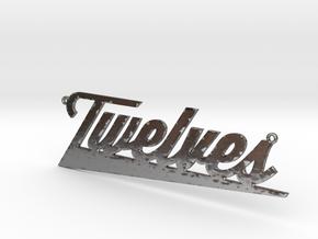 twelves in Fine Detail Polished Silver