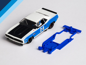 1/32 SCX Plymouth 'Cuda Chassis for Slot.it AW pod in Blue Processed Versatile Plastic
