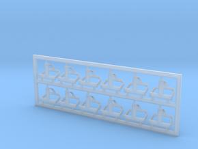 Helmhalter Typ-A 12 Stück in Smooth Fine Detail Plastic
