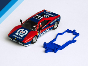 1/32 SCX Ferrari 288 GTO Chassis for Slot.it pod in Blue Processed Versatile Plastic