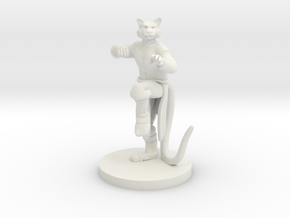 Catfolk Male Monk in White Natural Versatile Plastic
