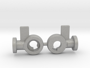 Aoshima SSG Getter 1 replacement hip joints in Raw Aluminum
