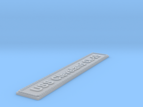 Nameplate USS Cleveland CL-55 in Smoothest Fine Detail Plastic