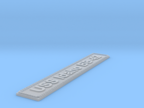 Nameplate USS Idaho BB-42 in Smoothest Fine Detail Plastic