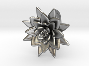 Succulent Blossom in Natural Silver