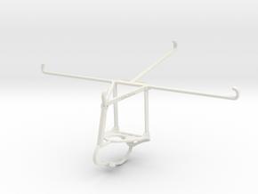 Controller mount for Nimbus & Apple iPad Air - Top in White Natural Versatile Plastic