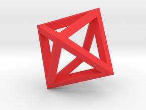Octahedron mesh pendant in Red Processed Versatile Plastic