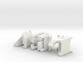 3dWordFlip: ashi/mama in White Natural Versatile Plastic