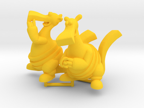 Bic and Bac Figurines in Yellow Processed Versatile Plastic: Large