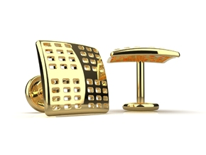 Kna-3 Cufflinks in 14K Yellow Gold