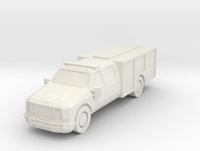 Ford Light Rescue/Squad 1:285 scale in White Natural Versatile Plastic: 1:160 - N