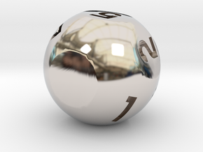 d7 Sphere Dice in Platinum