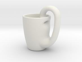 Klein_Mug in White Natural Versatile Plastic