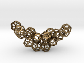 Dodecahedrons pendant in Natural Bronze