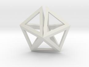 UFO Tetrahedrons pendant in White Natural Versatile Plastic