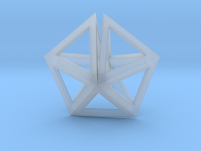 UFO Tetrahedrons pendant in Smoothest Fine Detail Plastic