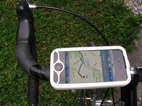 "iPhone 4 bike mount assembly 1"" in White Natural Versatile Plastic"
