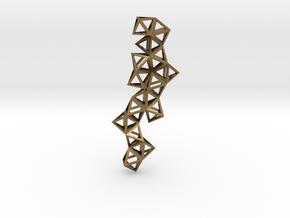 Tetrahedrons pyramids drop pendant in Natural Bronze