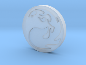 Mountain Token in Smooth Fine Detail Plastic