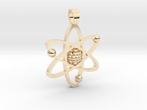 Atom [pendant] in 14k Gold Plated Brass
