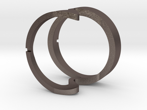 Bicuspid Band in Polished Bronzed Silver Steel: Small