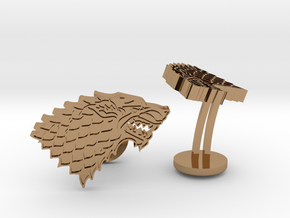 Game of Thrones House of Stark Cufflinks in Polished Brass