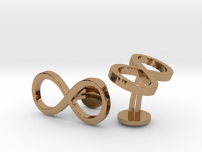 Infinity Wedding Cufflinks in Polished Brass