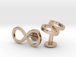 Infinity Wedding Cufflinks in 14k Rose Gold Plated Brass