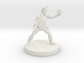Wizard Tiefling (Male) in White Natural Versatile Plastic
