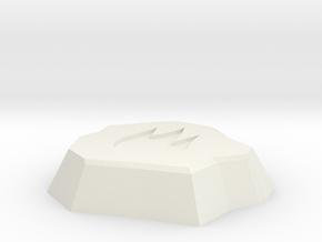 Fire Rune in White Natural Versatile Plastic