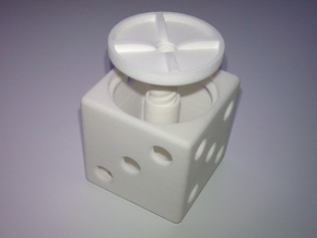 ring holder The Gambler in White Natural Versatile Plastic
