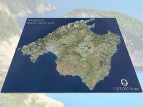 "Majorca / Mallorca Map, Spain: 8.5""x11"" in Full Color Sandstone"