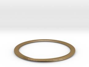 FlatMobius042 Bracelet in Polished Gold Steel