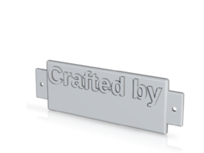 Name Plate 0004 - emboss in White Strong & Flexible