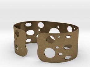 Circles bracelet in Natural Bronze