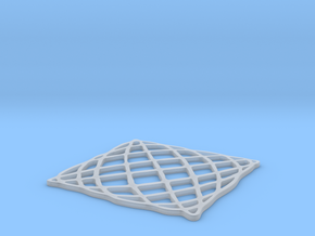 Lissajous Coaster 5:6 pi/2 in Frosted Ultra Detail