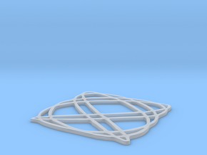 Lissajous coaster 4:5 pi/4 in Smooth Fine Detail Plastic