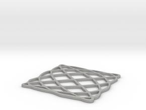 Lissajous coaster 4:5 pi/2 in Aluminum