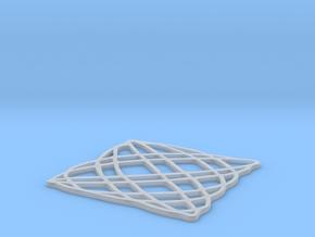 Lissajous coaster 5:6 pi/4 in Smooth Fine Detail Plastic