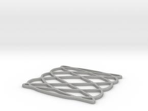 Lissajous coaster 3:5 pi/2 in Aluminum