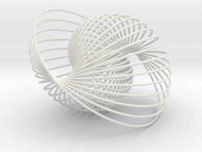 Shiral Sculpture in White Premium Versatile Plastic
