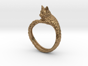Cat Ring in Natural Brass: 9 / 59