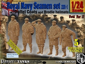1/24 Royal Navy Duffel Coat Set201-1 in White Natural Versatile Plastic